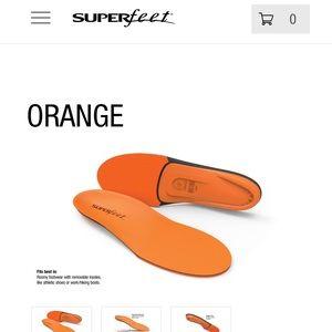 Superfeet Orange Insoles Size D